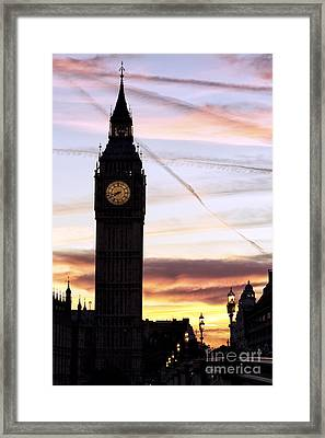 Shades Of London Framed Print by John Rizzuto