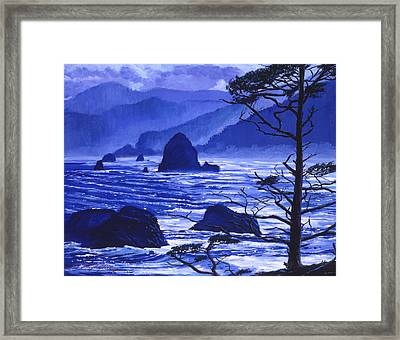 Shades Of Pacific Blue Framed Print by David Lloyd Glover