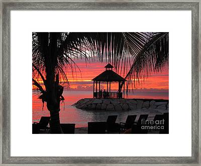 Shades Of Paradise 2 Framed Print by Addie Hocynec