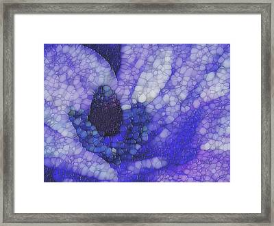 Shades Of Purple And Blue Framed Print