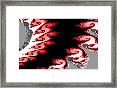 Shades Of Red And Gray Framed Print