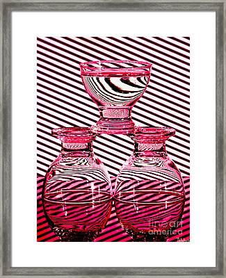 Shades Of Red Framed Print by Athanasios Athanasiou