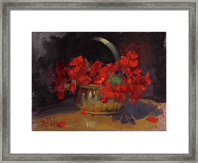 Shades Of Red Framed Print by Billie Colson