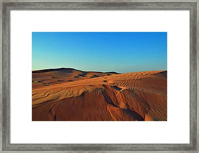 Shades Of Sand Framed Print by Corinne Rhode