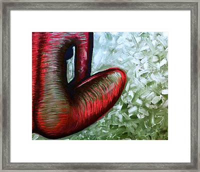 Shades Of Scarlet Framed Print by Brenda Higginson