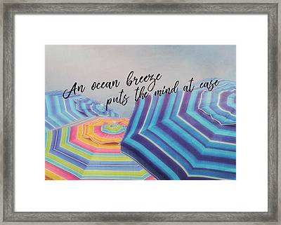 Shades Of Summer Quote Framed Print by JAMART Photography