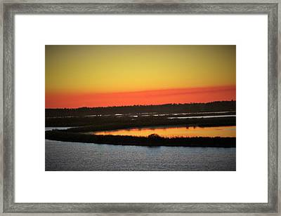 The Colors Of Sundown Framed Print by John Glass