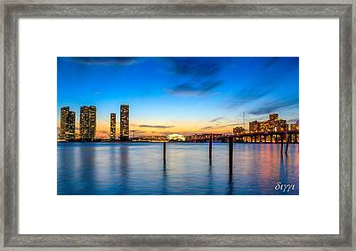 Shades Of Sunset Framed Print by Diggi B