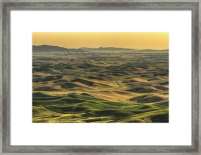 Shades Of The Palouse Framed Print