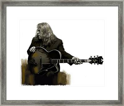 Shades Of Tone Iv Warren Haynes  Framed Print by Iconic Images Art Gallery David Pucciarelli
