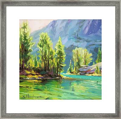 Shades Of Turquoise Framed Print