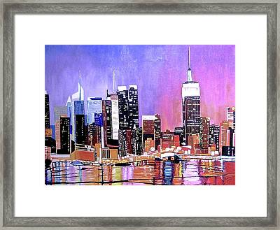 Shades Of Twilight Framed Print by Donna Blossom