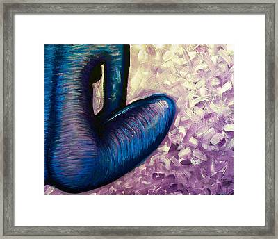 Shades Of Violet Framed Print by Brenda Higginson