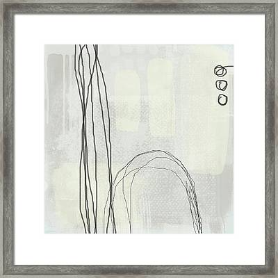 Shades Of White 3 - Art By Linda Woods Framed Print by Linda Woods