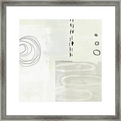 Shades Of White 4- Art By Linda Woods Framed Print by Linda Woods