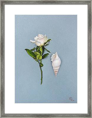 Shades Of White Framed Print by Elena Kolotusha