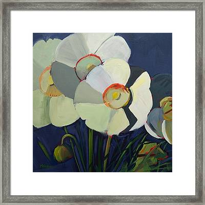 Shades Of White Framed Print by Monica Linares