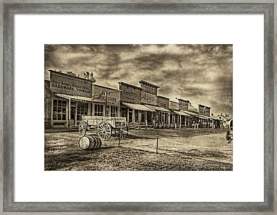 Shades Of Wild West Framed Print