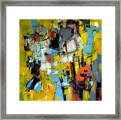 Framed Print featuring the painting Shades Of Yellow by Katie Black