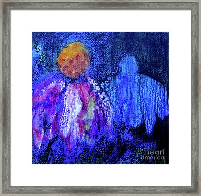 Shadow Abstract Bloom Framed Print
