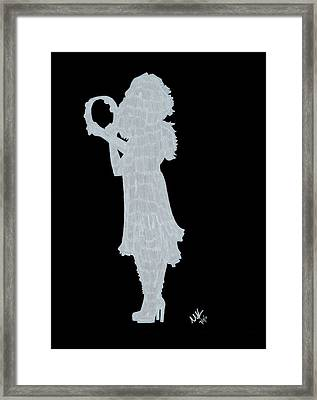 Shadow Against The Wall Framed Print by Michelle Kinzler