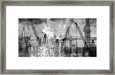 Framed Print featuring the digital art Shadow And Light by Marc Huebner