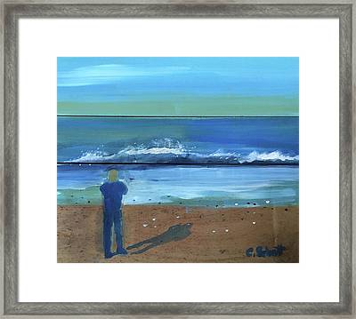 Shadow Beach Framed Print