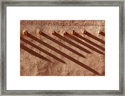 Shadow Beams Framed Print
