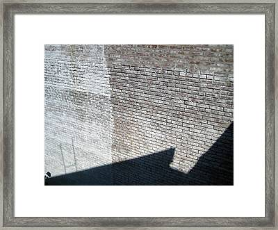 Shadow Brick Framed Print by Sean Owens