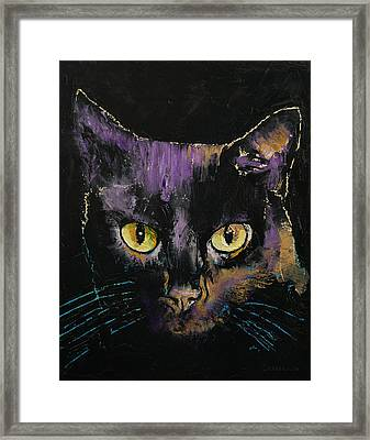 Shadow Cat Framed Print by Michael Creese