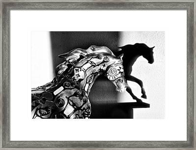 Shadow Dancer Framed Print by Tom Druin