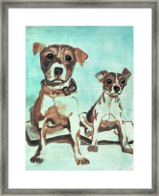 Shadow Dogs Framed Print by Terry Lewey