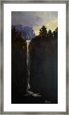 Shadow Falls Framed Print