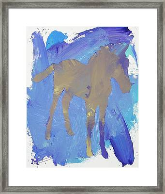 Shadow Foal Framed Print
