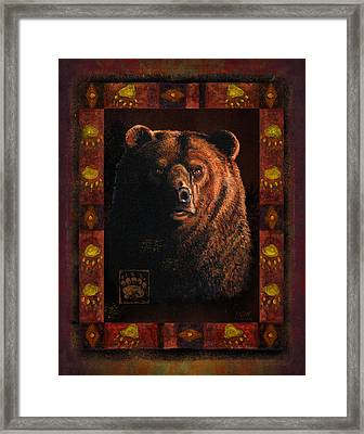 Shadow Grizzly Framed Print