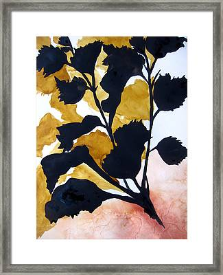 Shadow Hibiscus Framed Print