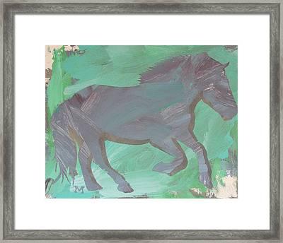 Shadow Horse Framed Print