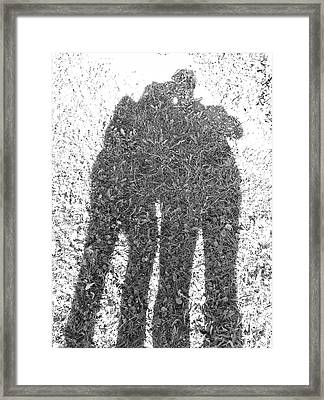 Framed Print featuring the photograph Shadow In The Meadow Bw by Wilhelm Hufnagl