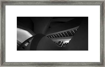 Stairway Swerve Framed Print by Jessica Jenney
