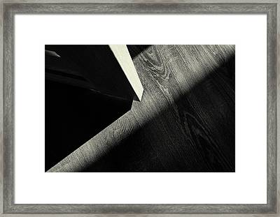 Framed Print featuring the photograph Shadow Light Door Abstract One by John Williams