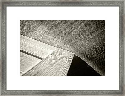 Framed Print featuring the photograph Shadow Light Door Abstract Two by John Williams
