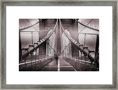 Shadow Man Framed Print