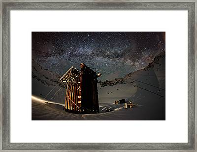Shadow Meets Milk Framed Print by Mike Berenson