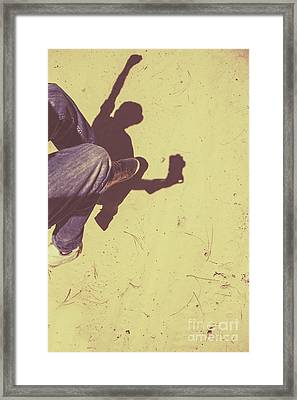 Shadow Of A Former Selfie Framed Print