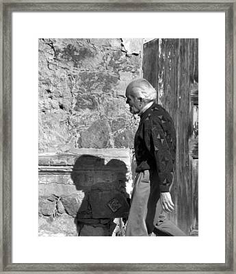 Shadow Of A Man Framed Print by Jim Walls PhotoArtist