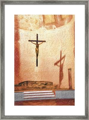 Shadow Of Christ Framed Print
