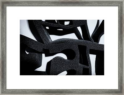 Framed Print featuring the photograph Shadow Of Foam Abstract One by John Williams