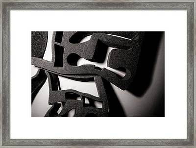 Framed Print featuring the photograph Shadow Of Foam Abstract Two by John Williams