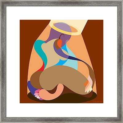 Shadow Of Her Halo Framed Print
