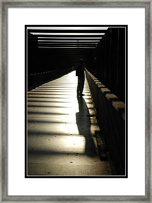 Shadow Of Hers Framed Print by Diego Bonomo
